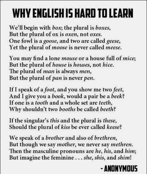 Why english is hard