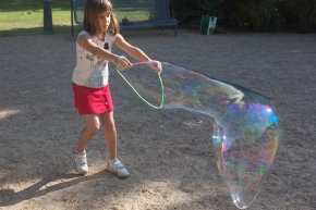 Here's a big bubble!